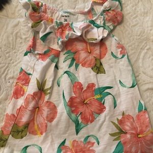 Carter's floral tank top with ruffles
